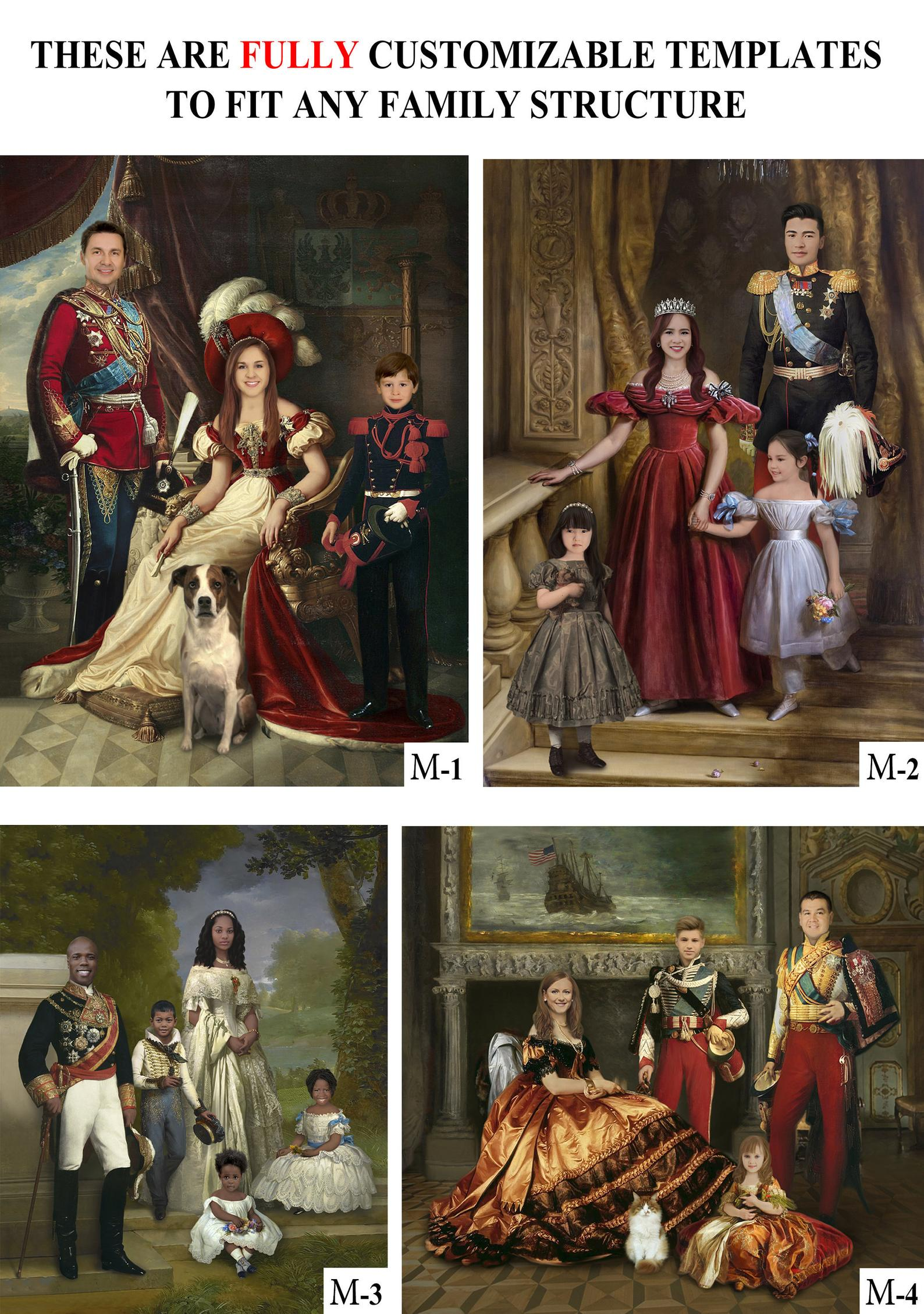 Historical Family Portrait by Gifter World