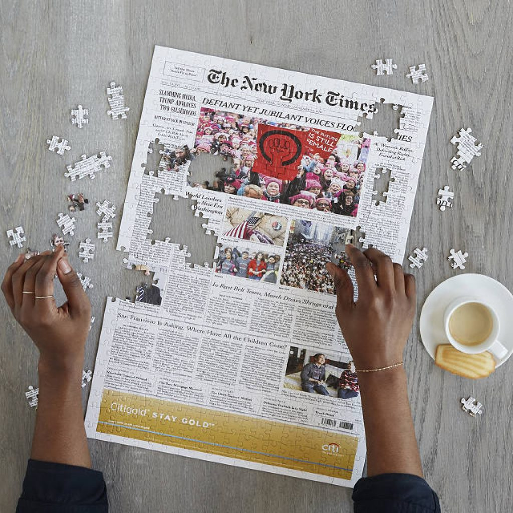 New York Times Custom Puzzle and Unique Gifts for 70-Year-Old Men