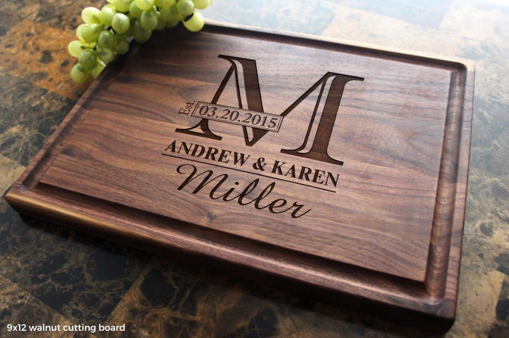 Personalized Cutting Board and 5th Anniversary Gift Ideas by Gifter World
