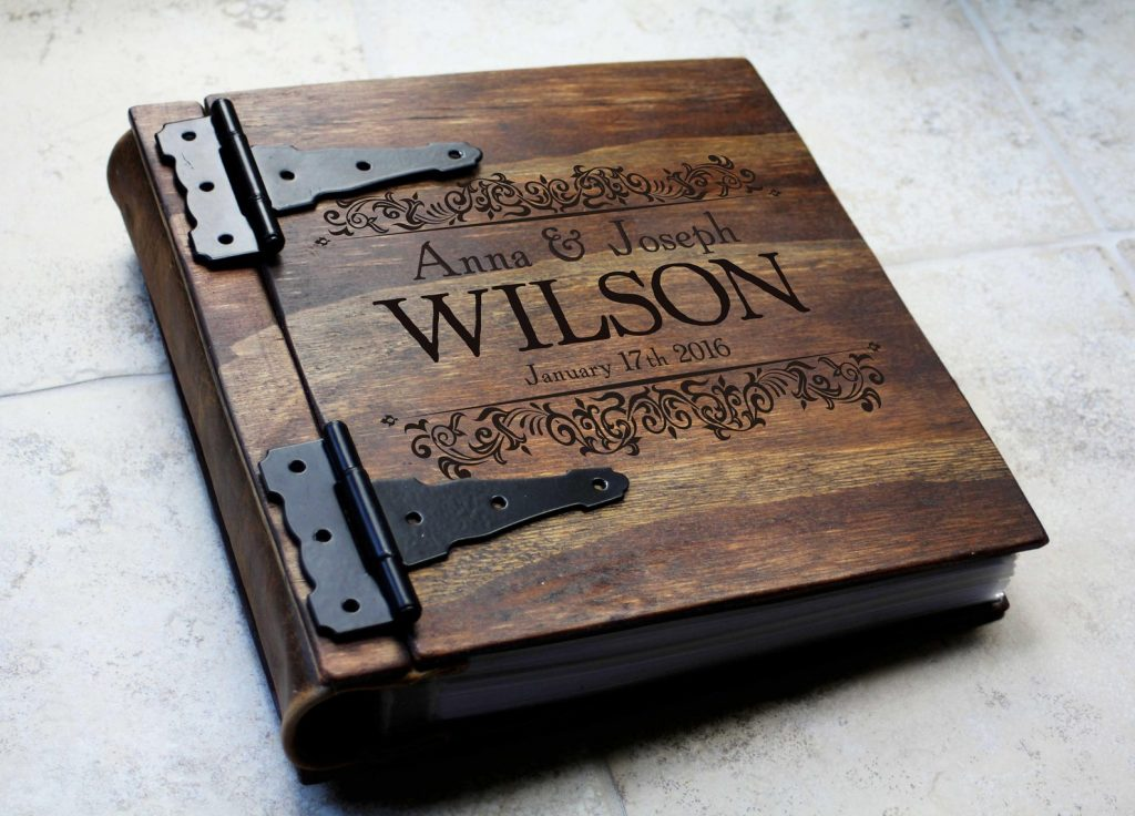 Personalized Wood Photo Album and Sentimental 5th Anniversary Gift Ideas by Gifter World