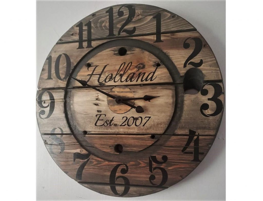Personalized Wooden Clock and Romantic Wood Gifts by Gifter World