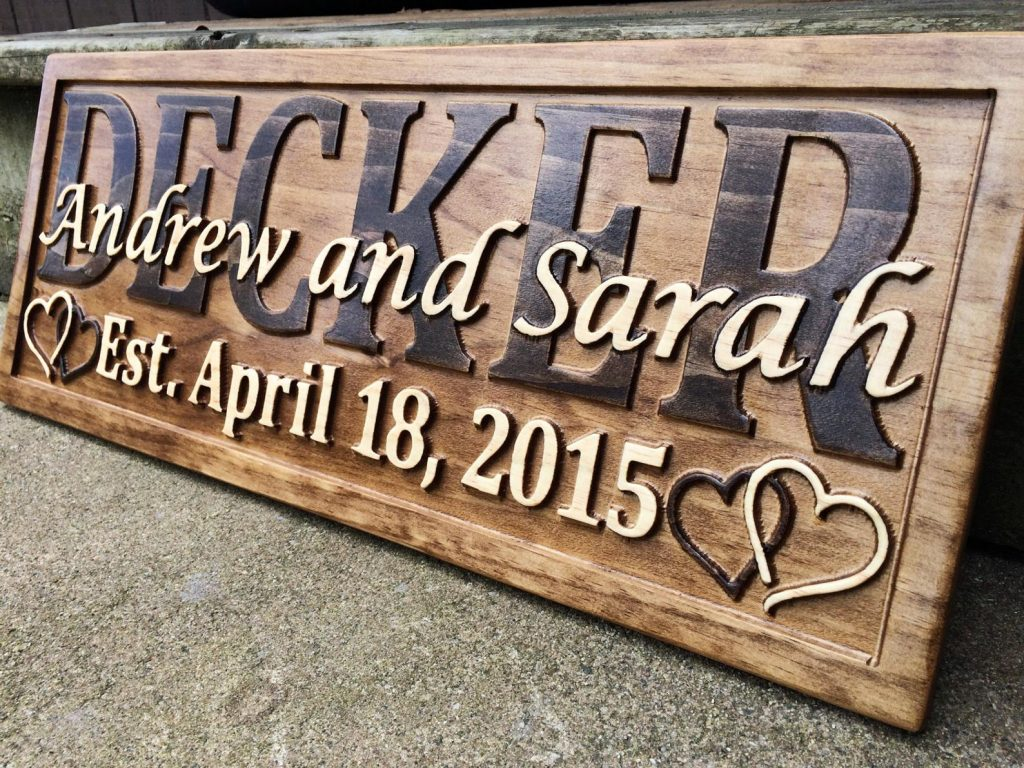 Personalized Wooden Sign and Othe Personalized 5th Anniversary Gift Ideas by Gifter World