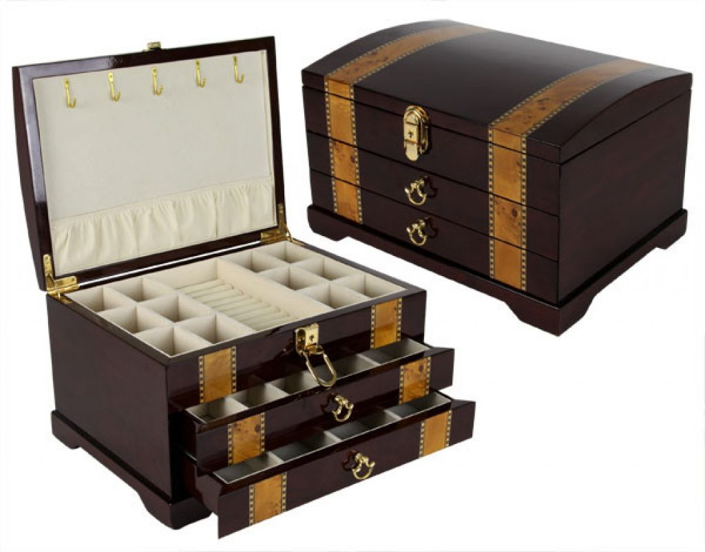 Wooden Jewelry Box and Romantic 5th Anniversary Gifts for Her by Gifter World