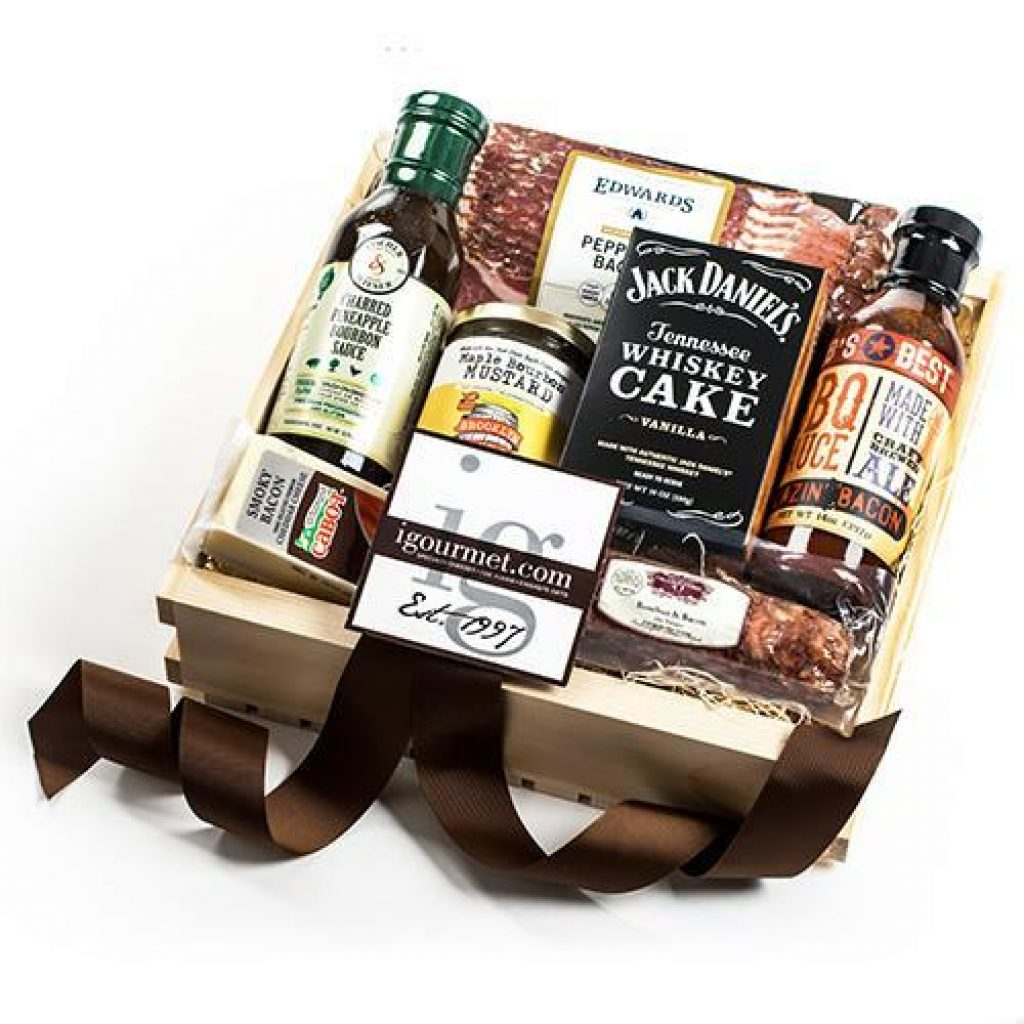 Bacon and Bourbon Gift Crate and the Best Hostess Gifts for a Weekend Stay by Gifter World