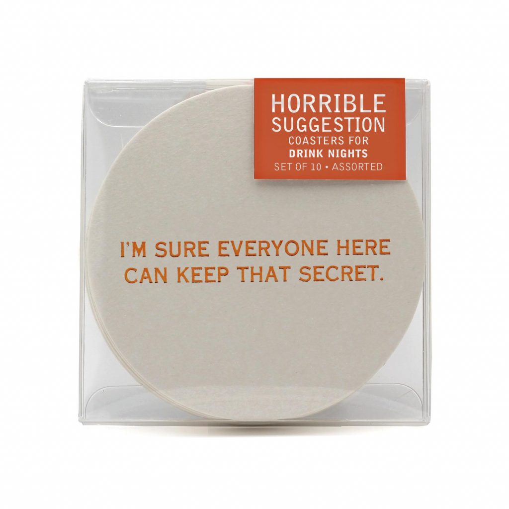 Horrible Suggestion Coasters and Funny Gifts for People Who Like to Entertain by Gifter World