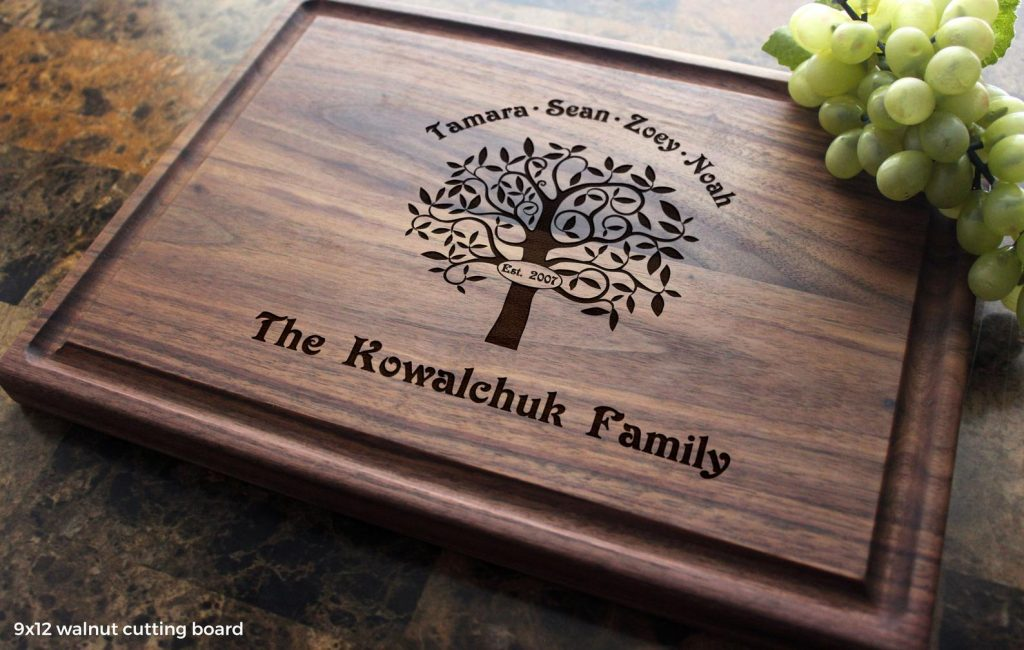 Personalized Cutting Board and Personalized Hostess Gifts for Weekend Stay by Gifter World