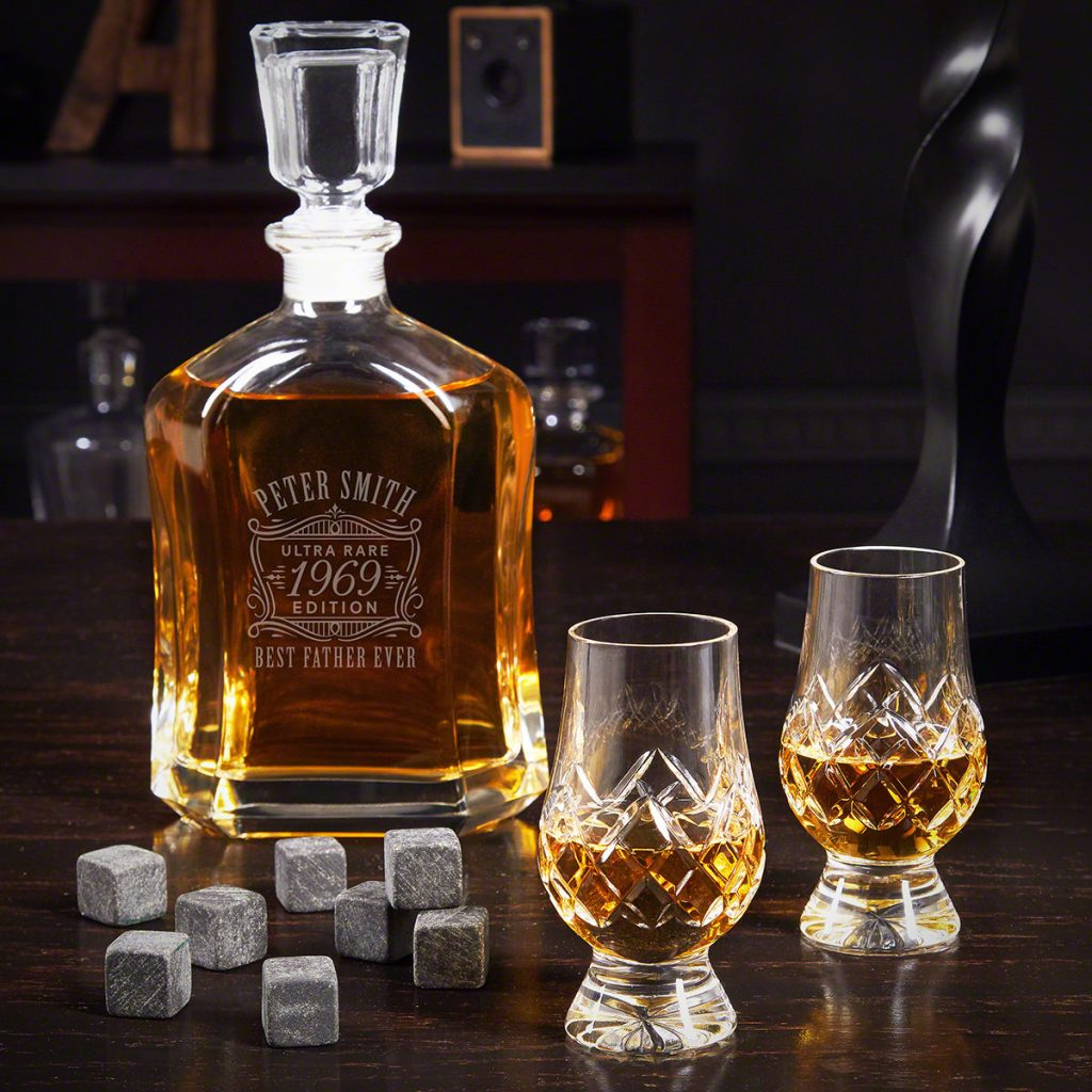 Personalized Whiskey Decanter Set and Other Personalized Gifts for People Who Like to Entertain by Gifter World