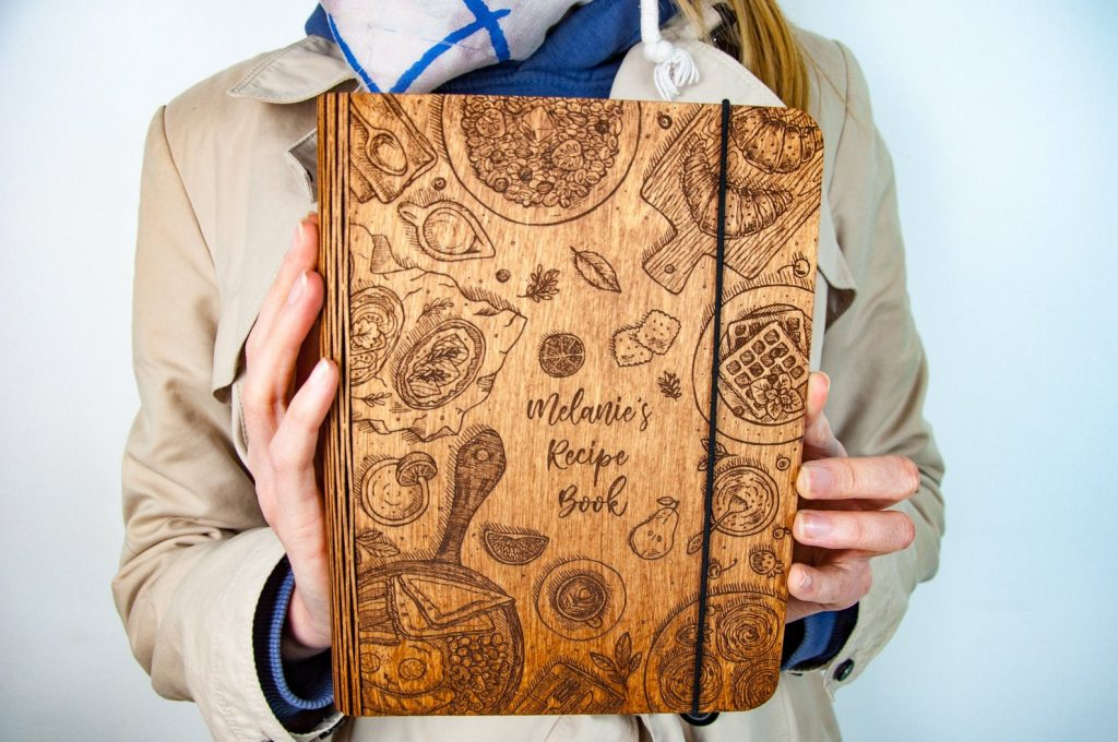 Personalized Wooden Recipe Book and Other Personalized Gifts for People Who Like to Entertain by Gifter World
