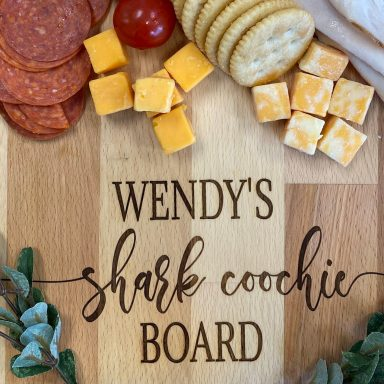Shark Coochie Board Charcuterie Board by Gifter World
