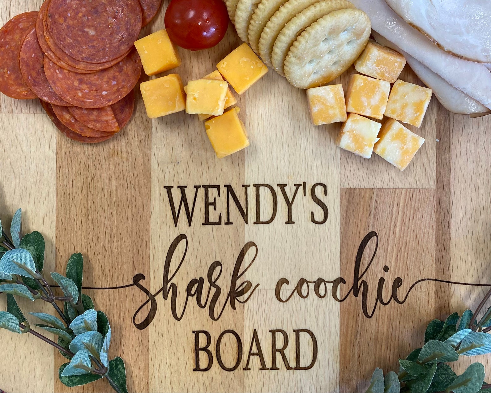 Shark Coochie Board Charcuterie Board by Gifter World