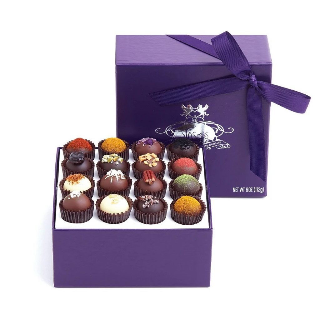 Vosges Exotic Truffles and Unique Hostess Gift Ideas for Overnight Stay by Gifter World