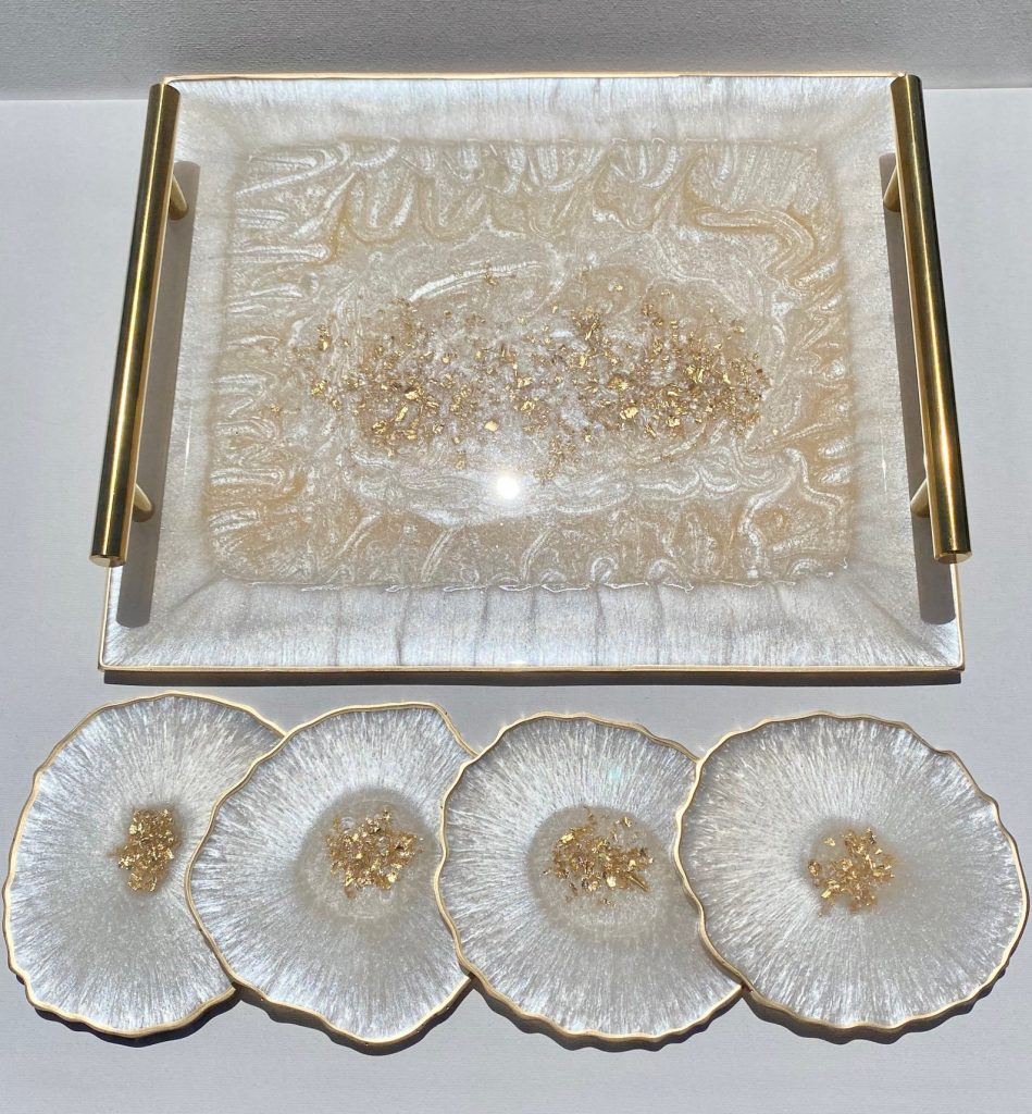 Agate Serving Tray and Unique Wedding Gifts for Couples ho Have Everything by Gifter World