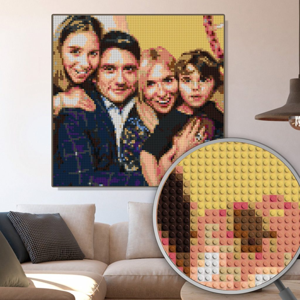 Personalized Lego Portrait and Great Wedding Gift Ideas for Couples Already Living Together by Gifter World