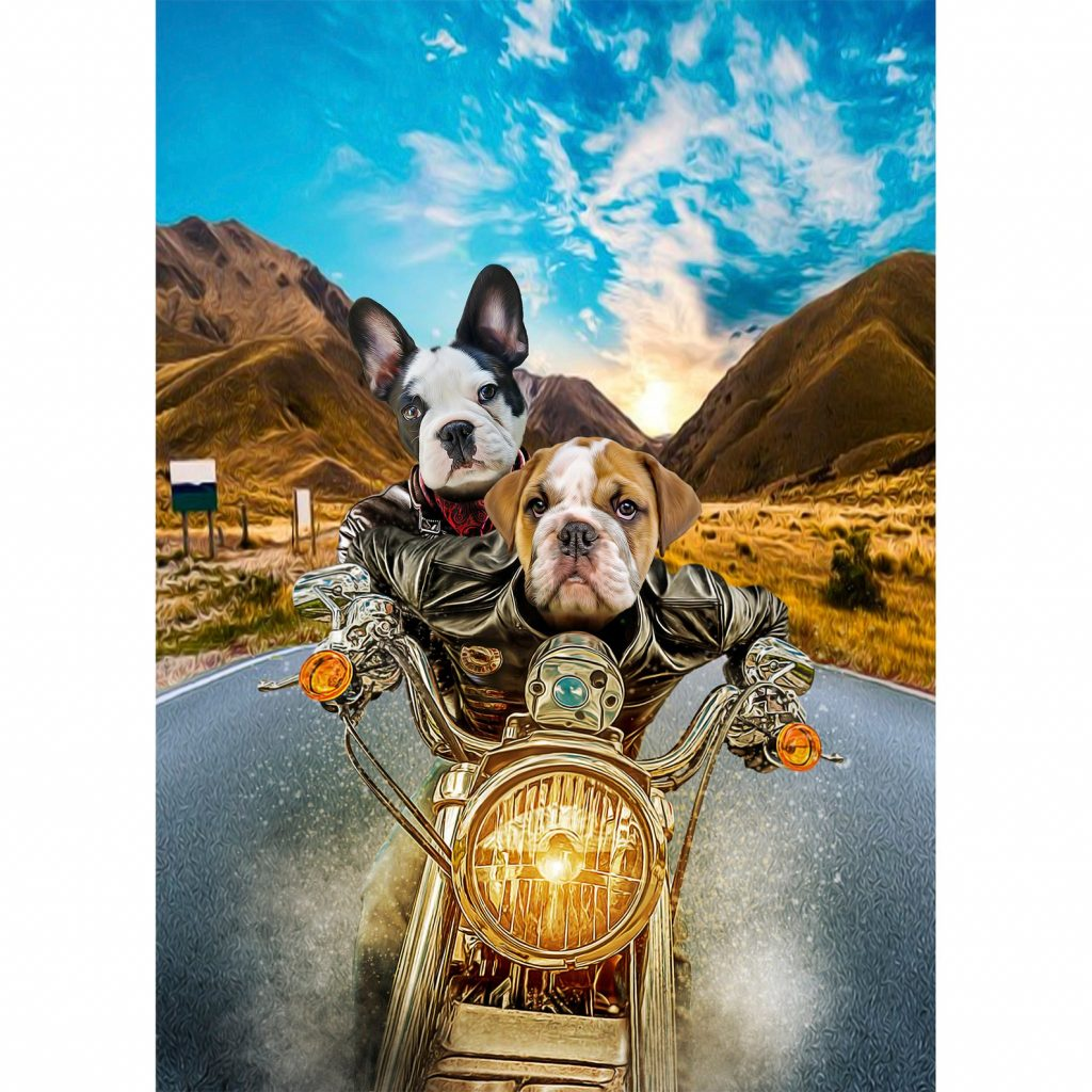 Personalized Pet Biker Portrait and the Best Gifts for Motorcycle Riders by Gifter World