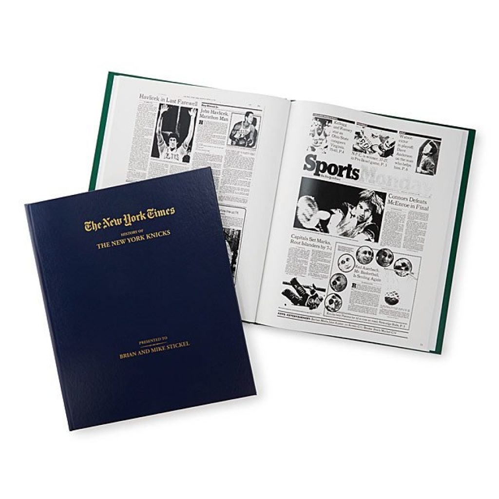New York Times Custom Basketball Book and Unique Gifts for Basketball Lovers by Gifter World