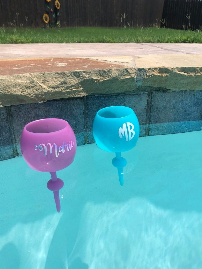 Personalized Floating Wine Glasses and the Best Personalized Gifts for Pool Owners by Gifter World