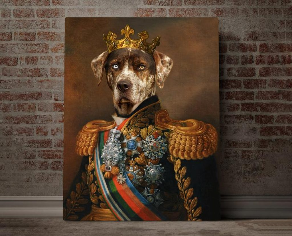 Custom Pet Memorial Portrait and Unique Gift for For Loss by Gifter World