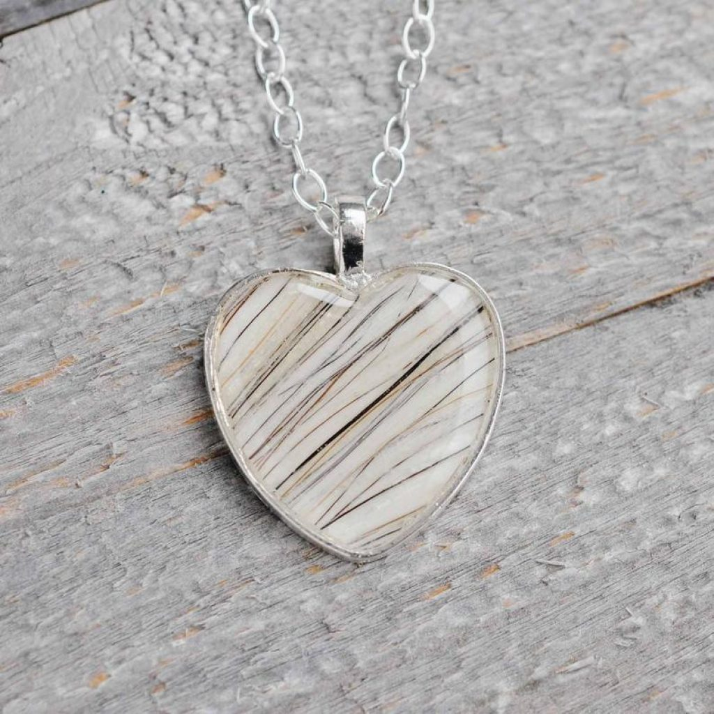 Horse Hair Pendant and Unique Gift for Loss of Pet by Gifter World