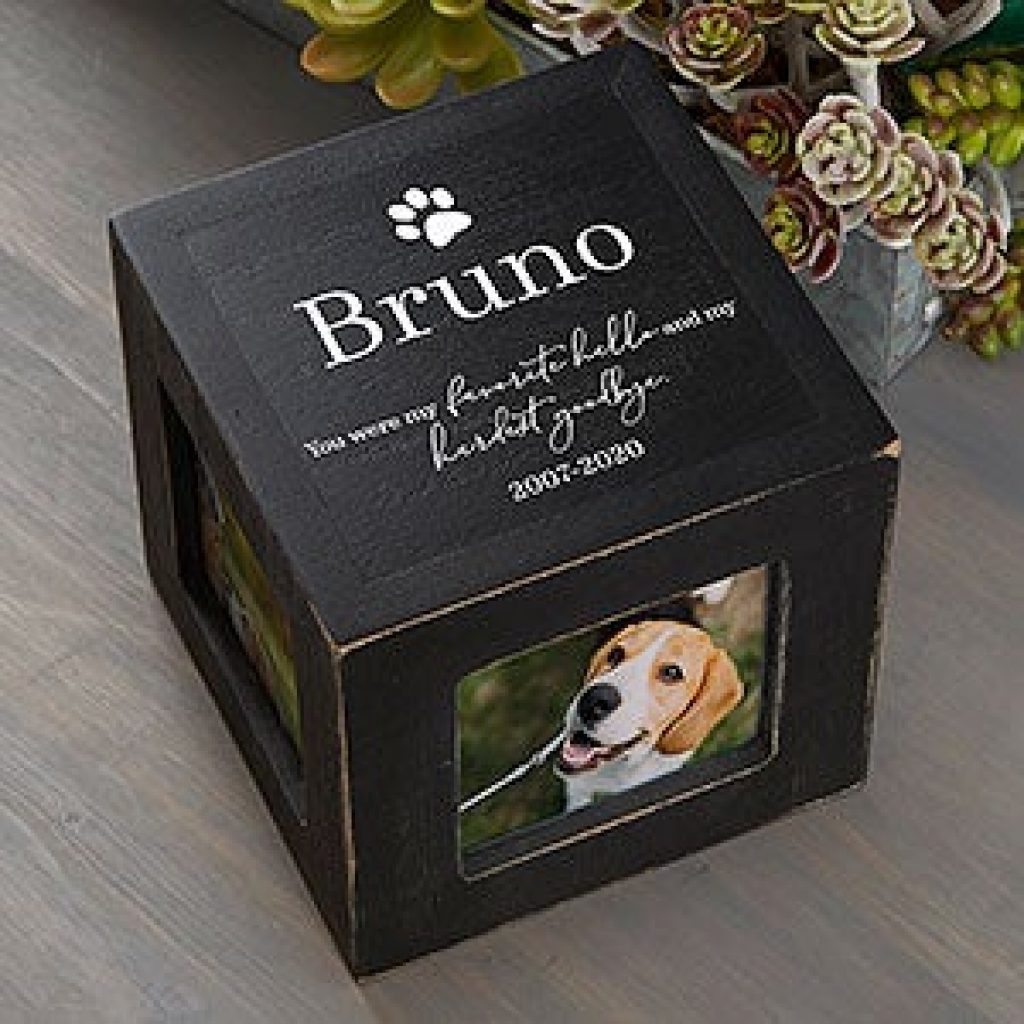 Pet Memorial Photo Cube and Unique Pet Memorial Gifts by Gifter World