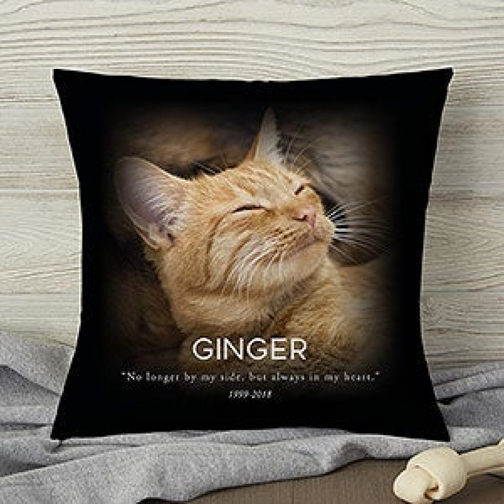 Pet Memorial Pillow and Personalized Gift Ideas for Someone Who Has Lost a Pet by Gifter World