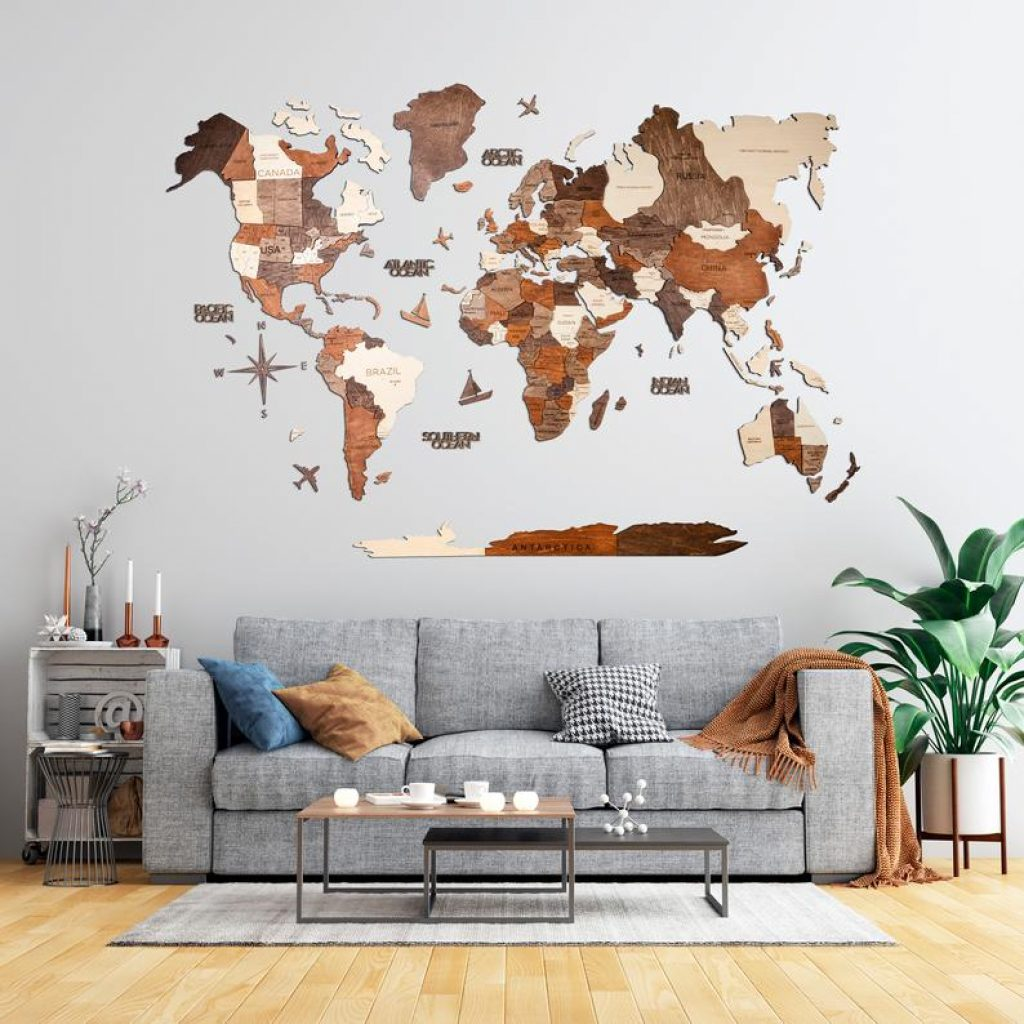Wooden World Map and Unique Gifts for a 40-Year-Old Woman by Gifter World