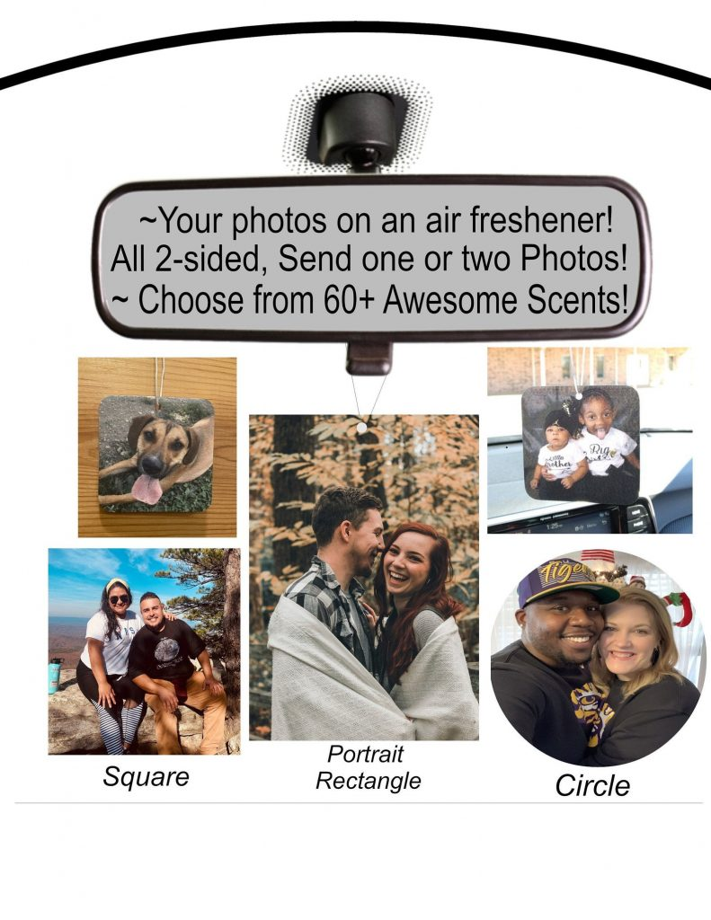 Custom Photo Air Freshener and Unique Gifts for Car Lovers by Gifter World