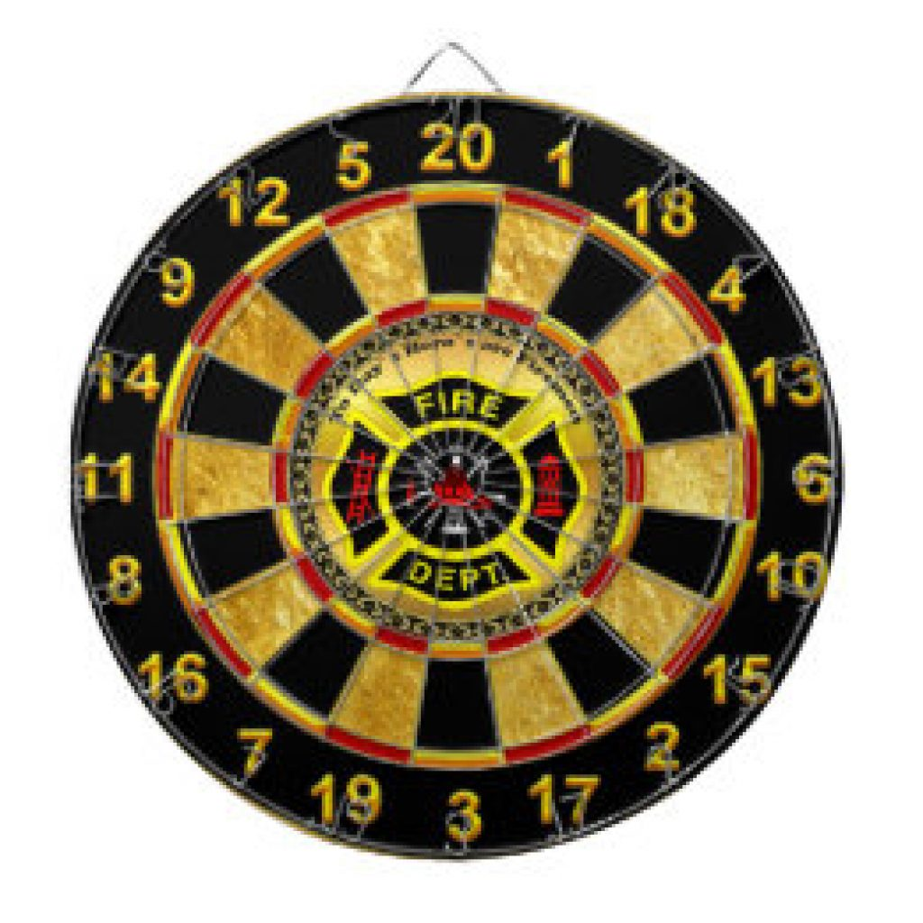 Fire Department Dartboard and Unique Gifts for Firemen and Firewomen by Gifter World