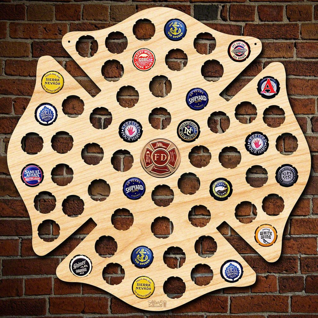 Firefighter Beer Cap Map and Unique Firefighting Gifts by Gifter World