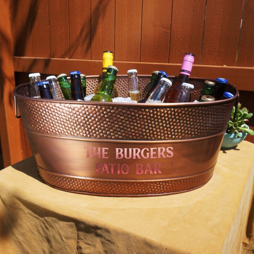 Personalized Copper Beverage Tub and Personalized 7 Year Anniversary Gifts by Gifter World