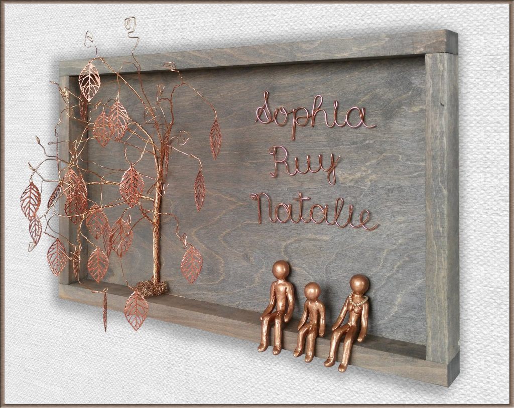 Personalized Copper Family Sign and Copper Anniversary Gifts for Her by Gifter World
