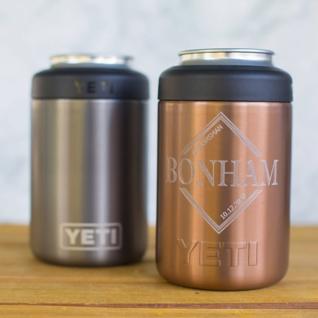 Personalized Copper Yeti Colster and Personalized 7th Anniversary Gifts by Gifter World