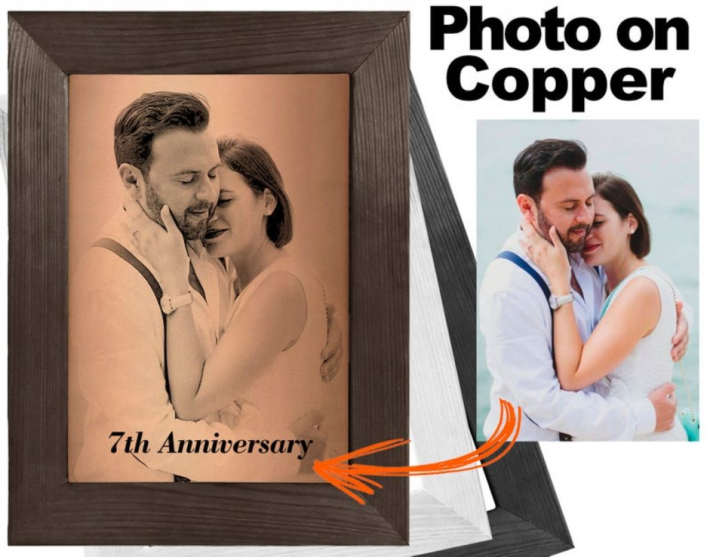 Photo on Copper and Unique Copper 7th Anniversary Gifts by Gifter World