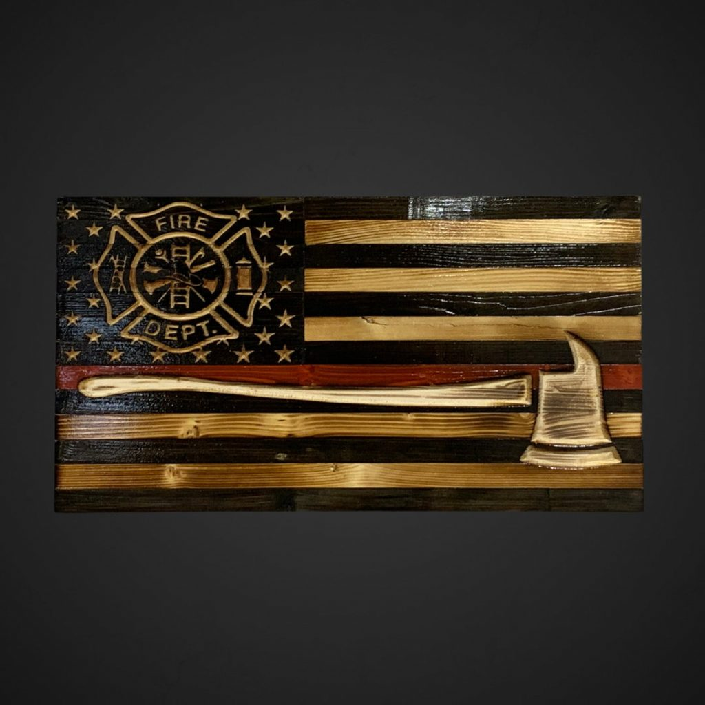 Wooden Firefighter Sign and Unique Gifts for Firefighters by Gifter World