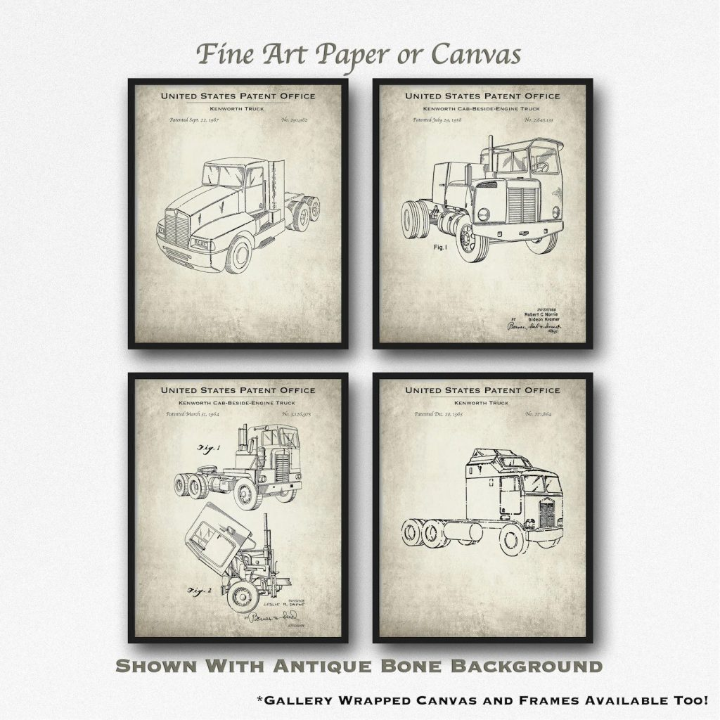 Kentworth Semi-Truck Patents and the Best Gifts for Truck Drivers by Gifter World