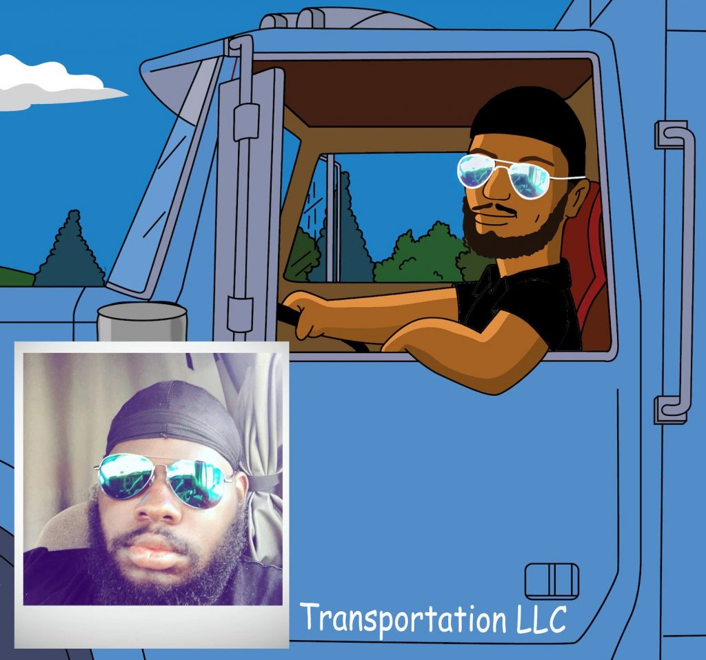Personalized Cartoon Trucker Portrait and the Best Gifts for Truck Drivers by Gifter World