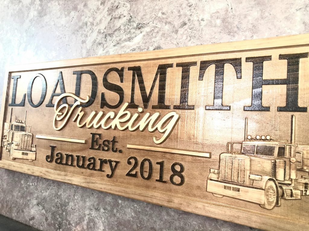Personalized Trucker Sign and Unique Truck Driving Gifts by Gifter World