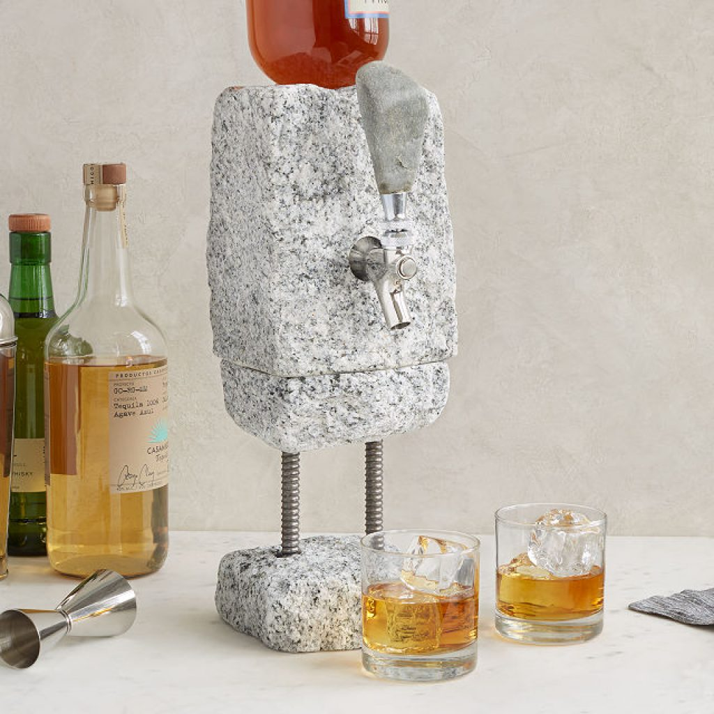 Stone Drink Dispenser and Unique 50th Birthday Gifts for Men Who Have Everything by Gifter World