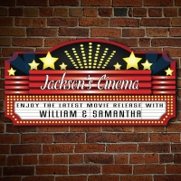Personalized Home Marquee Theater Sign